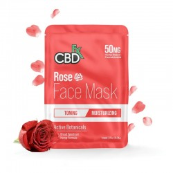 CBDfx Broad Spectrum Cbd Face Mask 50mg Rose